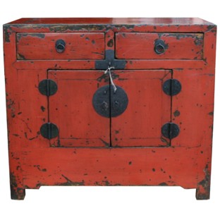 Red Antique Shanxi Cabinet