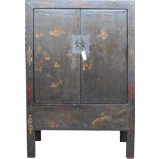 Large Original Black Painted Cabinet