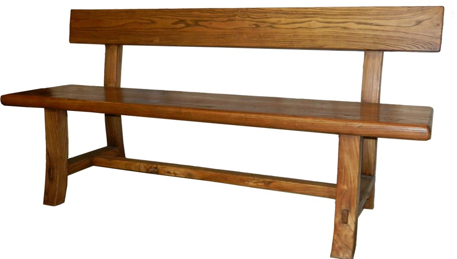 Chinese antique furniture elmwood bench with back for Oriental furniture australia