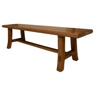 Brown Elm Wood Bench