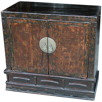 Chinese Antique Painted Cabinet