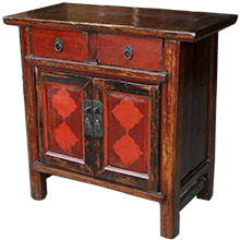 Original Red Chinese Cabinet