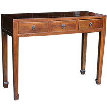 Brown Three Drawers Hall Table