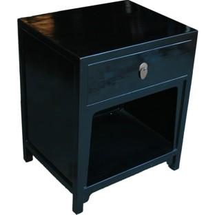Black Oriental Bedside Table
