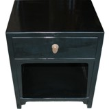 Black Oriental Bedside Table