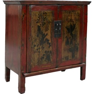 Original Red Painted Cabinet