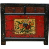 Two Drawers Mongolian Style Painted Cabinet