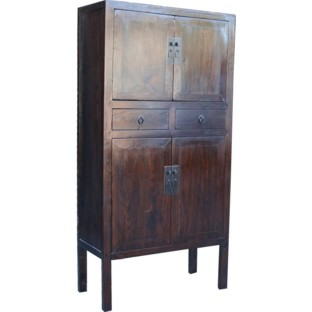 Brown Chinese Medium Wedding Cabinet