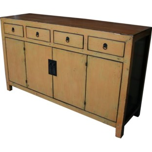 Orange Four Draw Four Door Sideboard