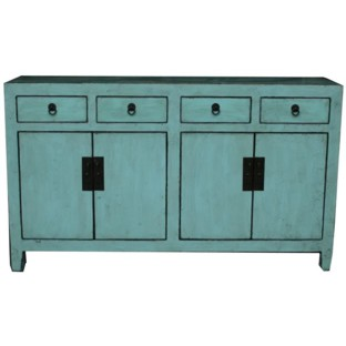 Green Four Door Four Draw Sideboard/Buffet