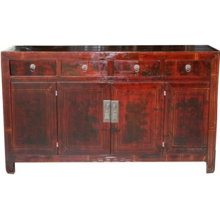 Original Manchurian Painted Sideboard