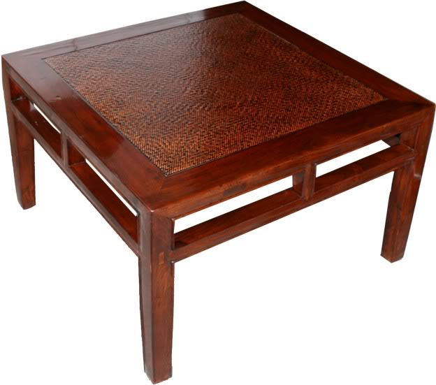 Original chinese furniture rattan inlay wood side table for Chinese furniture ebay australia