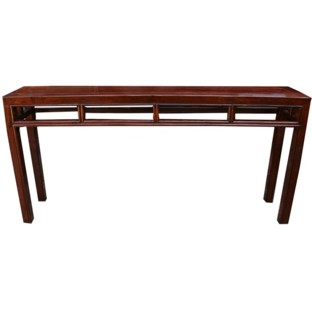 Original Brown Double Sided Console Table