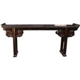 Original Extra Long Rustic Black Altar Table