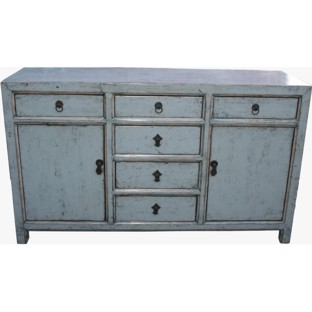 Original Six Drawers Grey Sideboard/Buffet