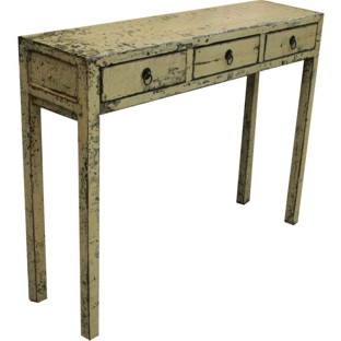 Distressed Beige Console Table/Hall Table