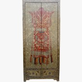 Large Cabinet w/ Painted Chinese Qing Empress Dress