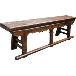 Original Chinese Elm Wood Bench