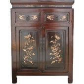 Chinese Mother of Pearl Small Cabinet