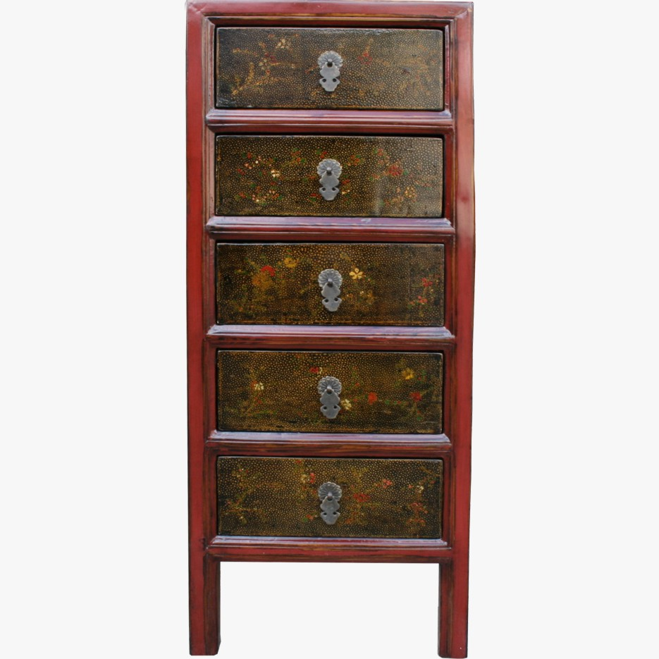 Red antique chinese painted chest of draws 33 043 ebay for Chinese furniture ebay australia