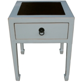 Grey Solid Timber Bedside/Side Table