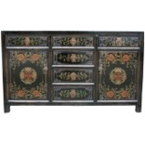 Chinese Antique Black Painted Sideboard/Buffet