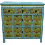 Original Painted Tibetan Sideboard