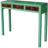 Original Console Table with Three Painted Drawers