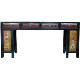 Original Mandarin Four-Drawer Painted Long Table
