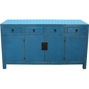 Blue Lacquered Sideboard Buffet