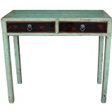 Light Green Painted Console Table