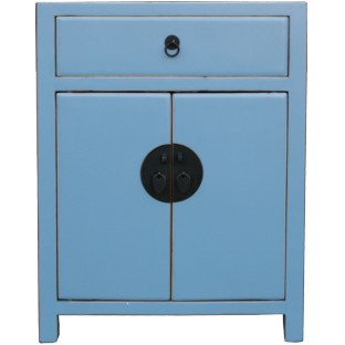 Light Blue Lacquered Bedside Table