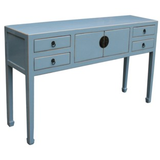 Chinese Light Blue Console Table