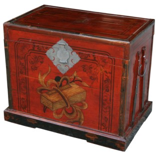 Decorative Painted Chinese Trunk