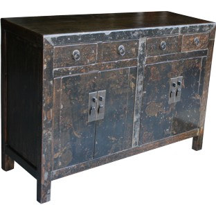 Distress Black Old Sideboard
