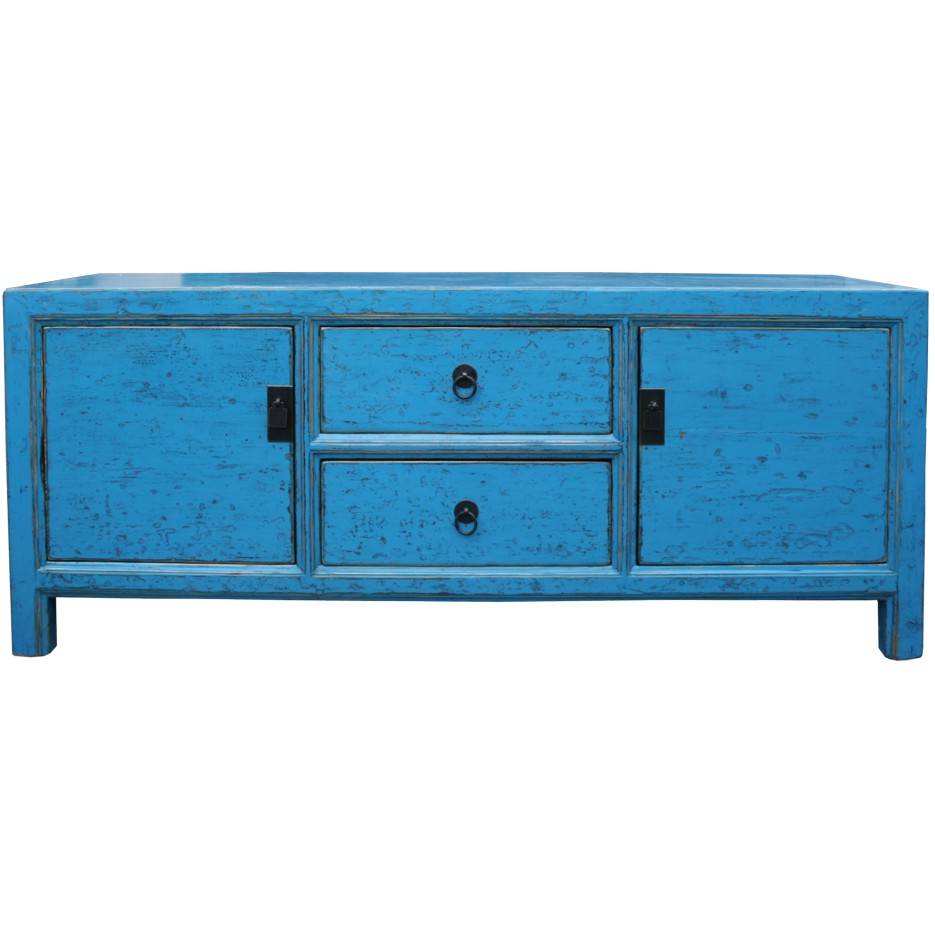 Blue Lacquer Low TV Unit  Sideboard Buffet (36052)  eBay -> Rotes Tv Sideboard