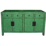 Green Lacquered Low Sideboard Buffet