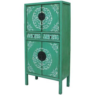Green Chinese Wedding Cabinet