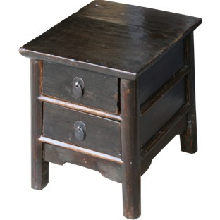 Small Stool with 2-Drawers / Side Table