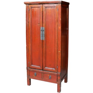 Red Slim Tapered Cabinet