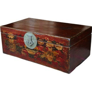 Red Painted Chinese Trunk