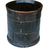 Large Chinese Antique Round 3 Layers Steaming Box