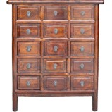 Brown Chinese Medicine Herb Cabinet