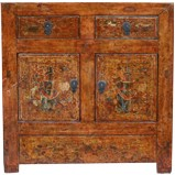 Rare Original Painted Cabinet