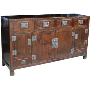 Original Dark Brown Chinese Sideboard