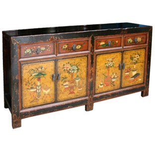 Original Mongolian Painted Sideboard