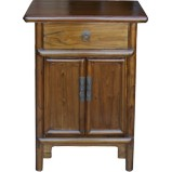 Brown Natural Elm Bedside Table