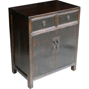 Original Old Black Chinese Cabinet