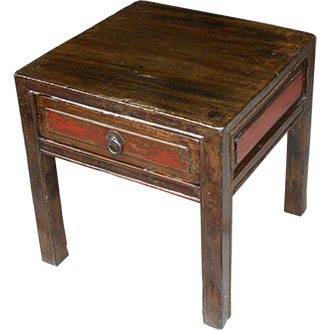 Original Patina Side Table with Drawer