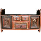 Chinese Bed End Carved Antique
